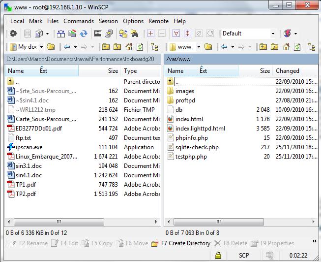 Transfert de fichiers avec WinSCP