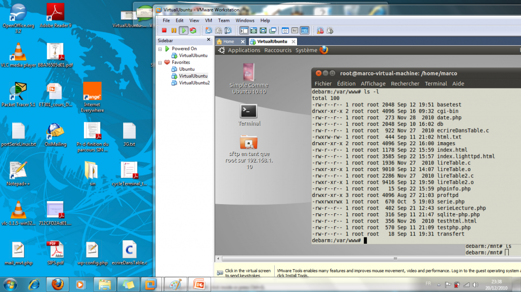 Ubuntu virtualisé avec VMware