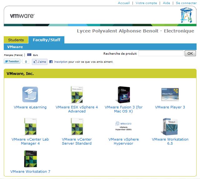 L'espace du LAB chez VMware